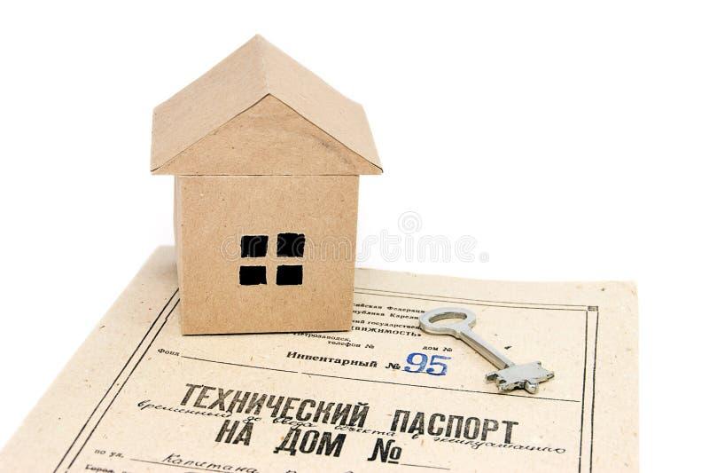 Documenti sulla casa fotografia stock