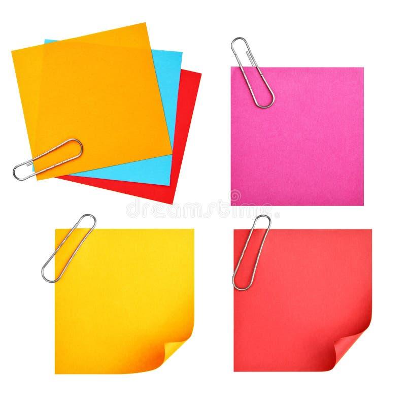 Documenti variopinti in bianco immagine stock