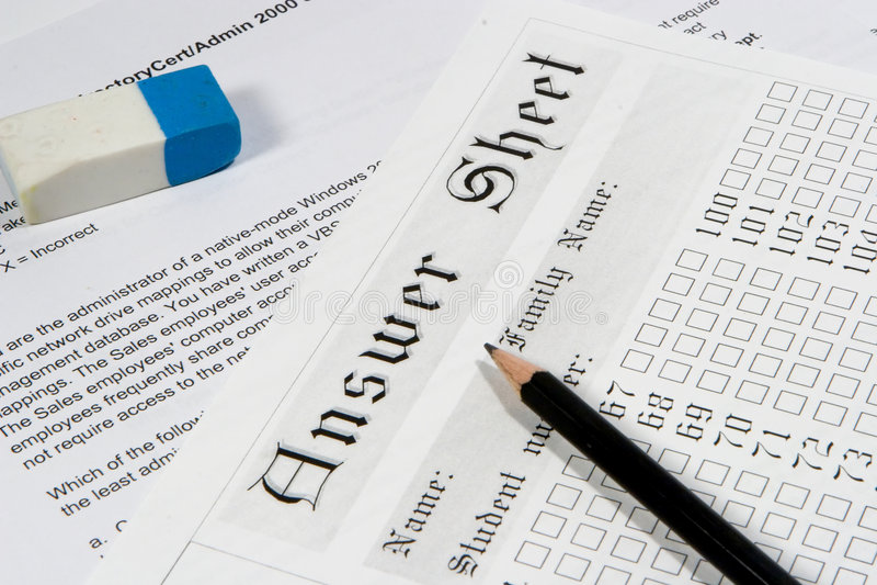 Documento 3 dell'esame immagini stock libere da diritti