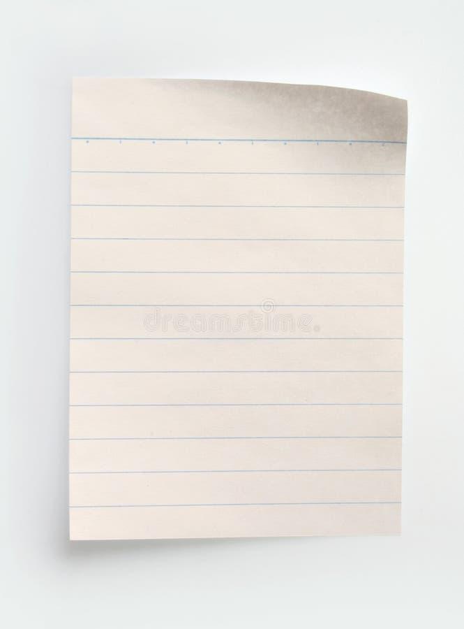 Documento allineato del taccuino immagini stock