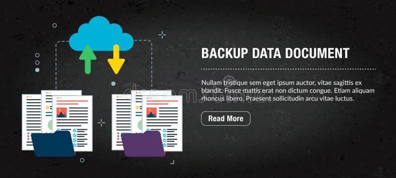 Documento alternativo dos dados, Internet da bandeira com ícones no vetor fotografia de stock royalty free