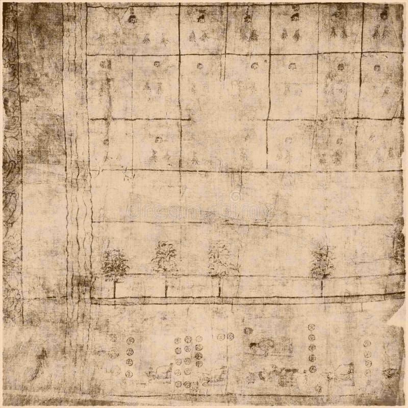 Documento antico del testo della pergamena royalty illustrazione gratis