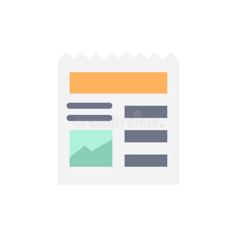 Documento, básico, Ui, icono plano del color de la imagen Plantilla de la bandera del icono del vector libre illustration