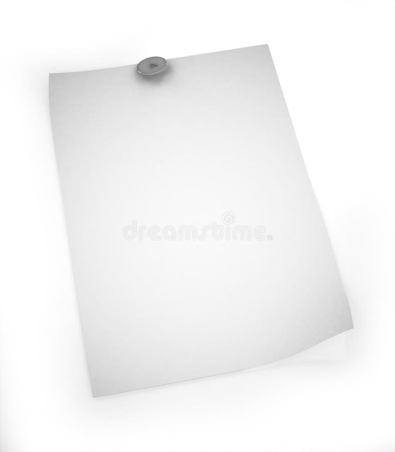 documento in bianco 3D con il illustrazione-perno illustrazione vettoriale