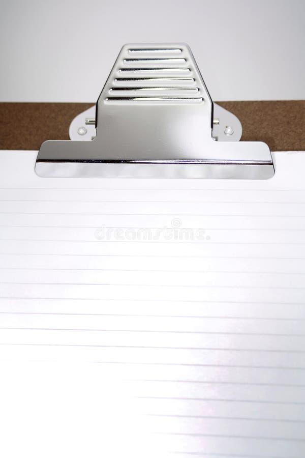 documento in bianco sui appunti immagini stock