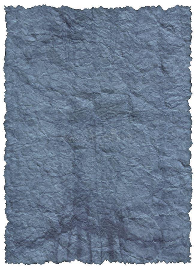 Documento blu dell'annata vecchio immagini stock