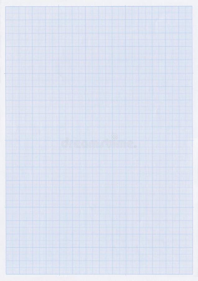 Documento blu di griglia o del grafico fotografia stock