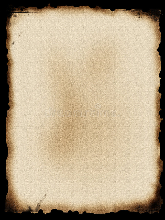 Documento Bruciato Fotografie Stock