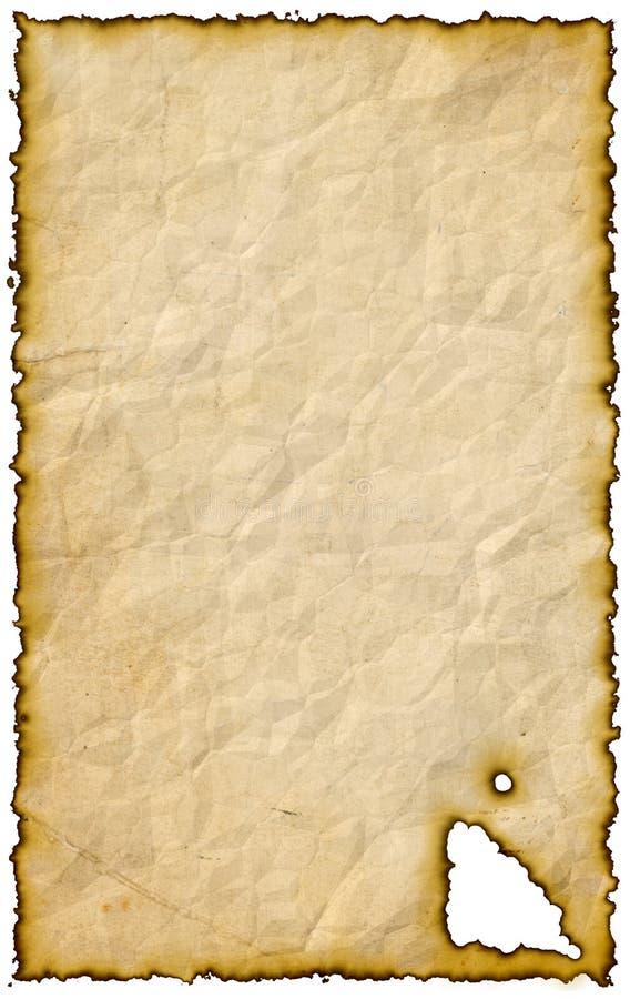 Documento bruciato illustrazione di stock