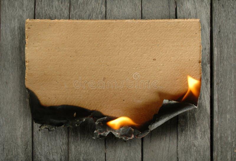 Documento Burning immagine stock libera da diritti