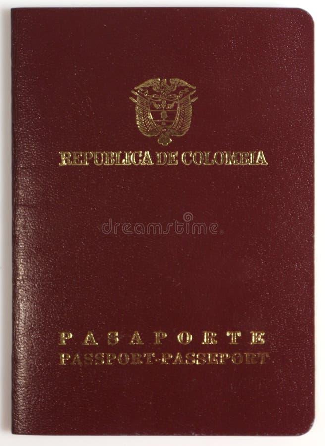 Documento colombiano del pasaporte, República de Colombia foto de archivo libre de regalías