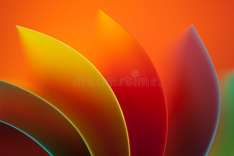 Documento colorato dell'estratto su priorità bassa arancione fotografia stock libera da diritti