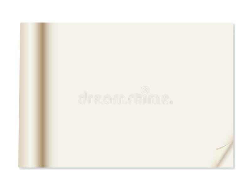 Documento con il ricciolo d'angolo illustrazione di stock