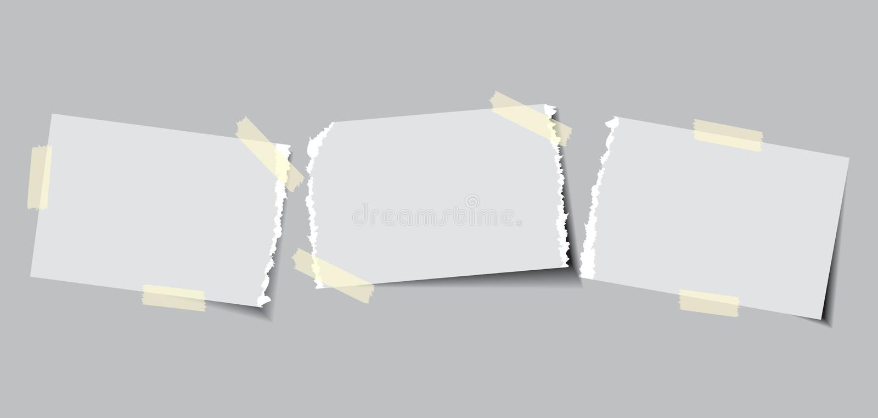 Documento con nastro adesivo appiccicoso illustrazione vettoriale