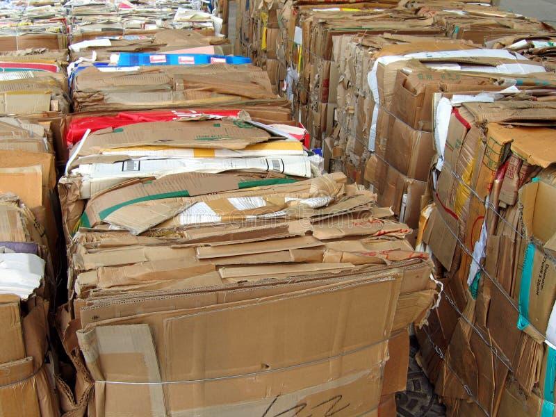 Documento da riciclare fotografia stock libera da diritti