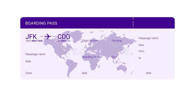 Documento de embarque violeta libre illustration