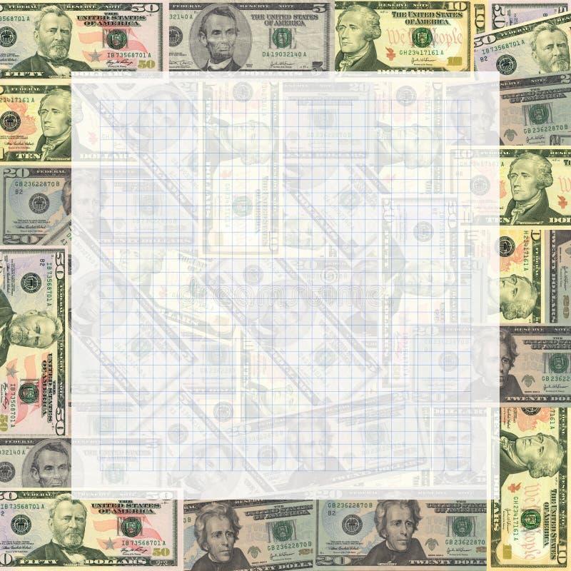 Documento de gráfico sobre dólares americanos libre illustration