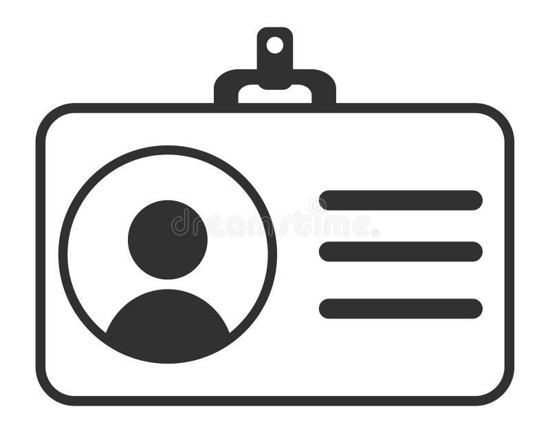 Documento de identidad, persona personal de la identificación, icono del vector del usuario del paso de la identificación, símbol ilustración del vector