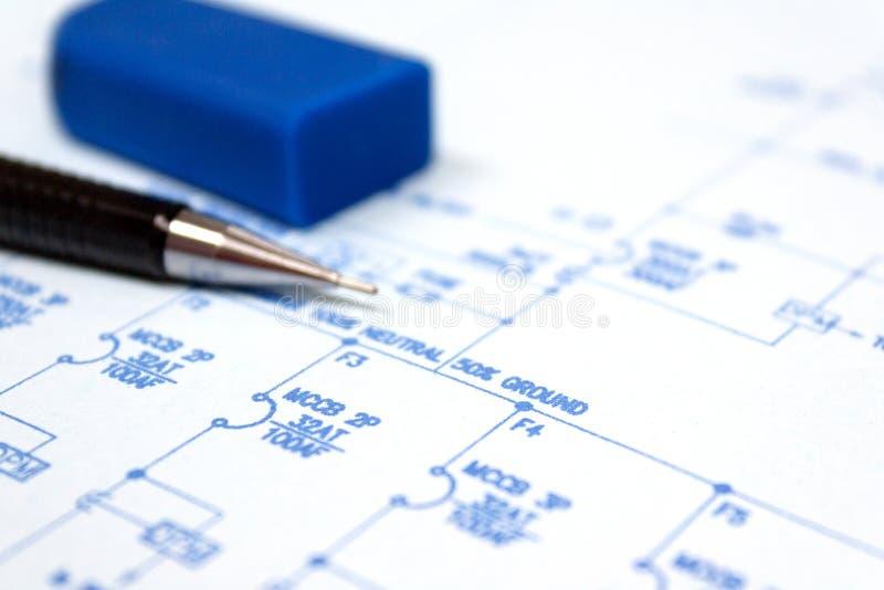 Documento de impresión azul fotografía de archivo libre de regalías