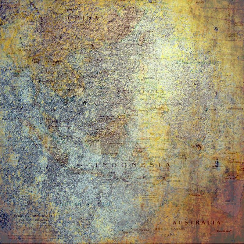 Documento de información del libro de recuerdos bohemio del mapa del vintage imagenes de archivo