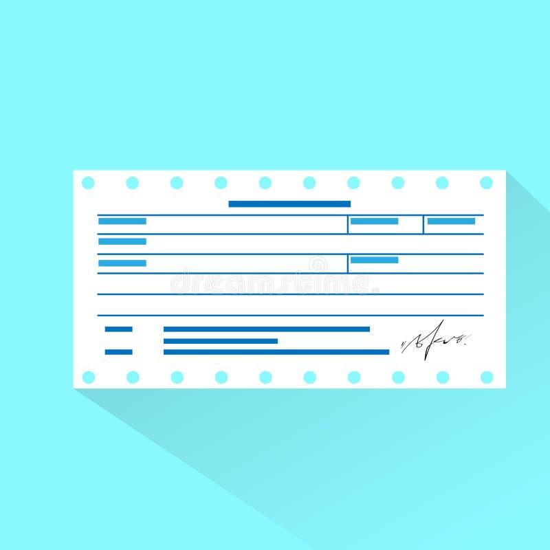 Documento de la cuenta financiera, pago de la orden de la factura libre illustration