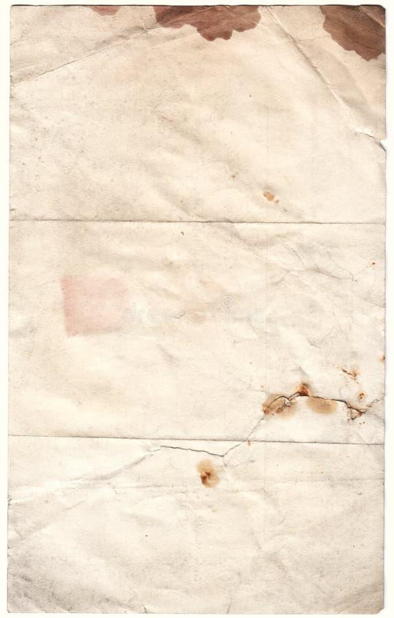 Documento decaduto oggetto d'antiquariato (inc cli fotografie stock libere da diritti