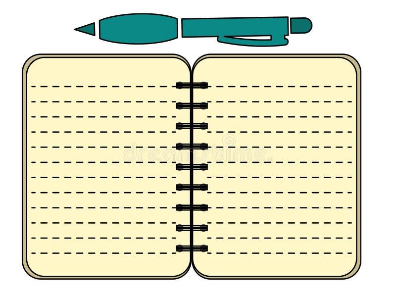 Documento del contrato con el ejemplo del icono del vector de Pen Business libre illustration