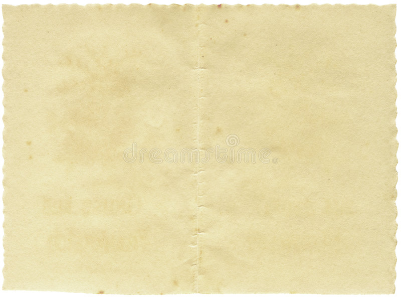 Documento dell'annata con i bordi ondulati fotografie stock