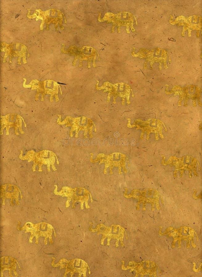 Documento dell'elefante dell'India fotografie stock libere da diritti