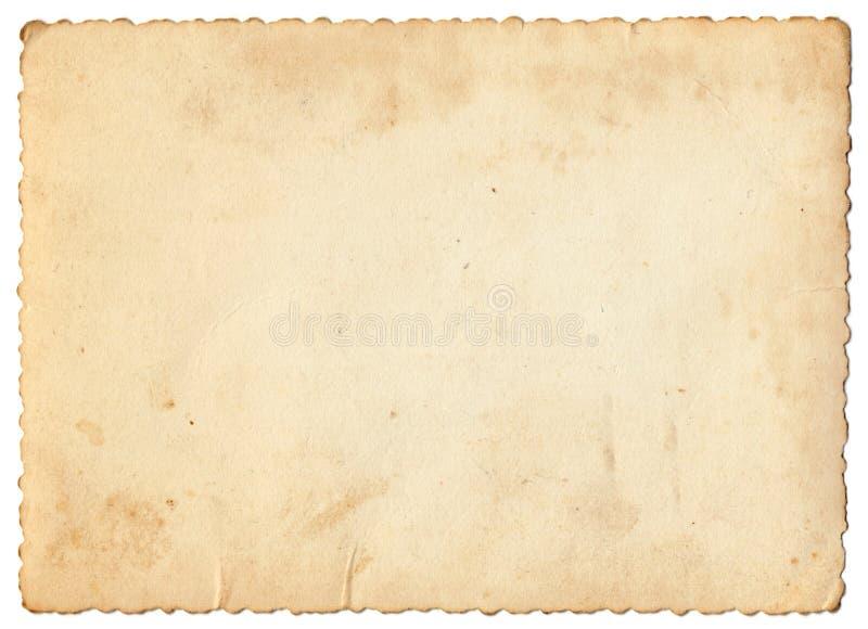 Documento della foto dell'annata fotografia stock libera da diritti