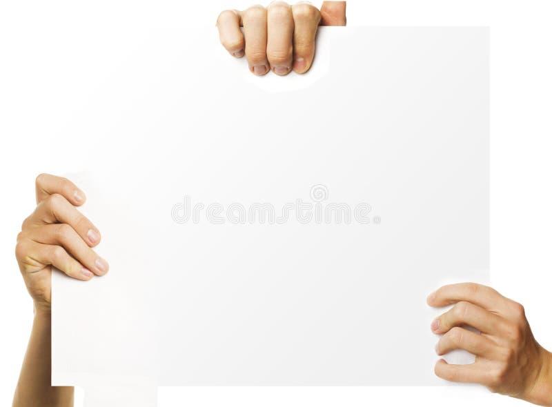 Documento della pubblicità immagine stock libera da diritti