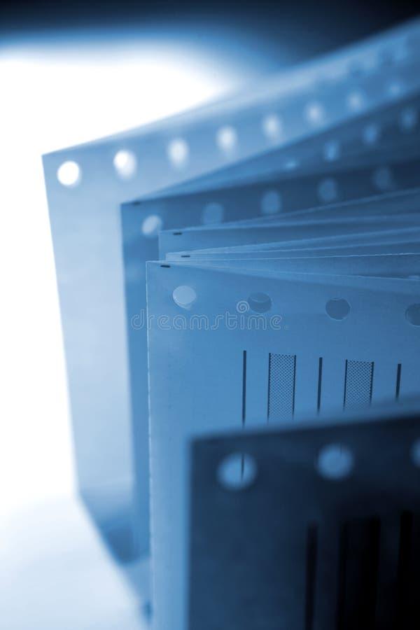 Documento della stampante fotografia stock