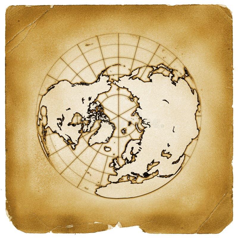 Documento della terra del globo del pianeta vecchio illustrazione di stock