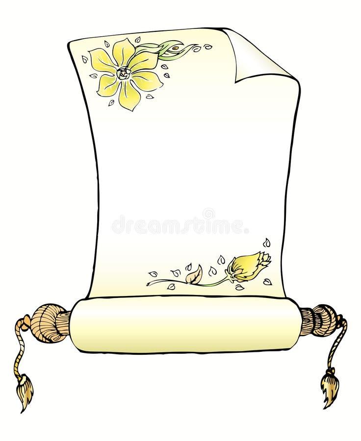 Documento di lettera classico del rullo royalty illustrazione gratis