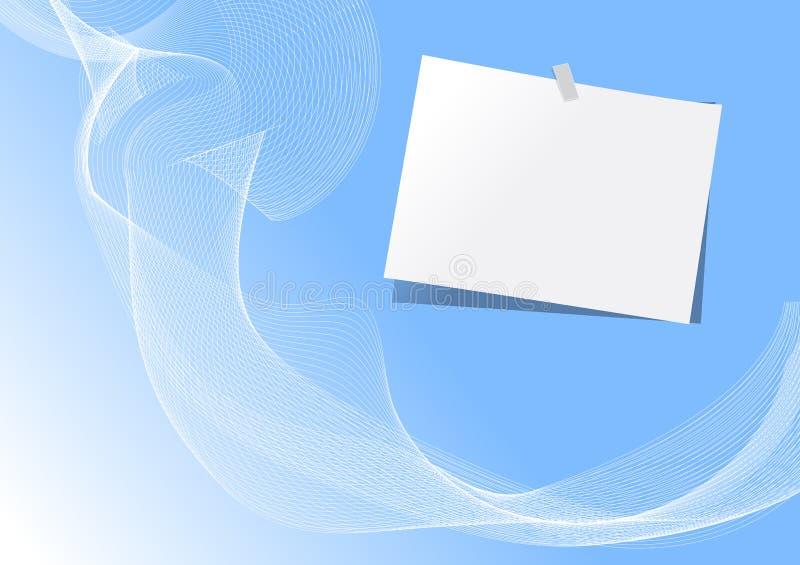 Documento di nota illustrazione vettoriale