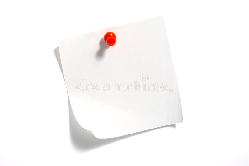 Documento di nota fotografie stock