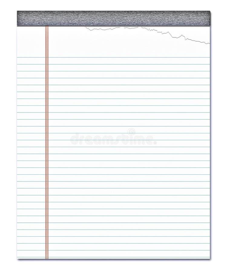 Documento di nota allineato blocchetto per appunti   royalty illustrazione gratis