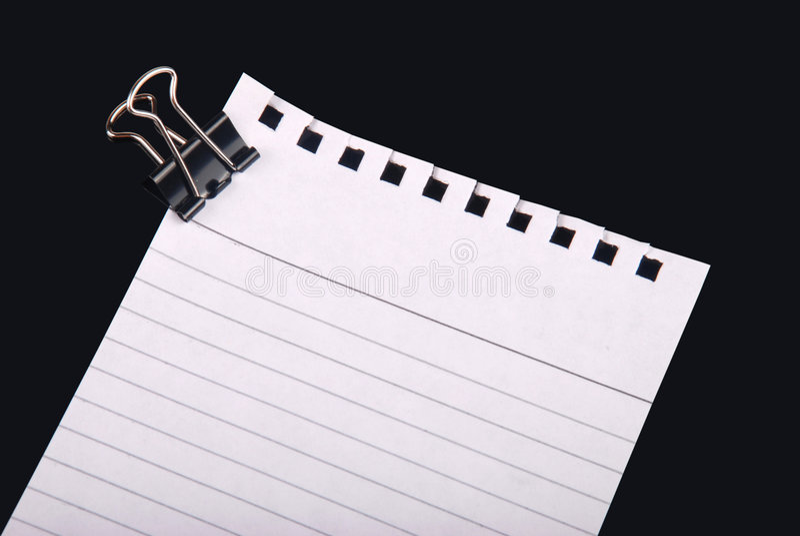 Documento di nota con la clip immagine stock libera da diritti