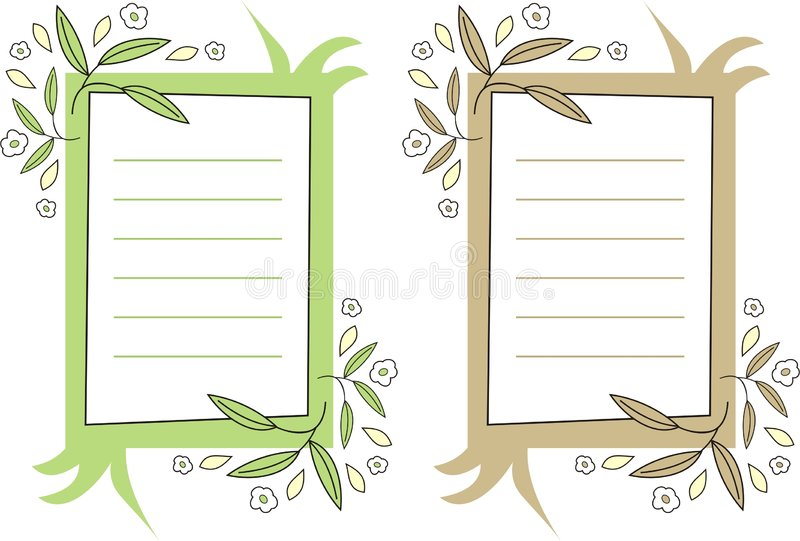 Documento di nota decorativo illustrazione di stock