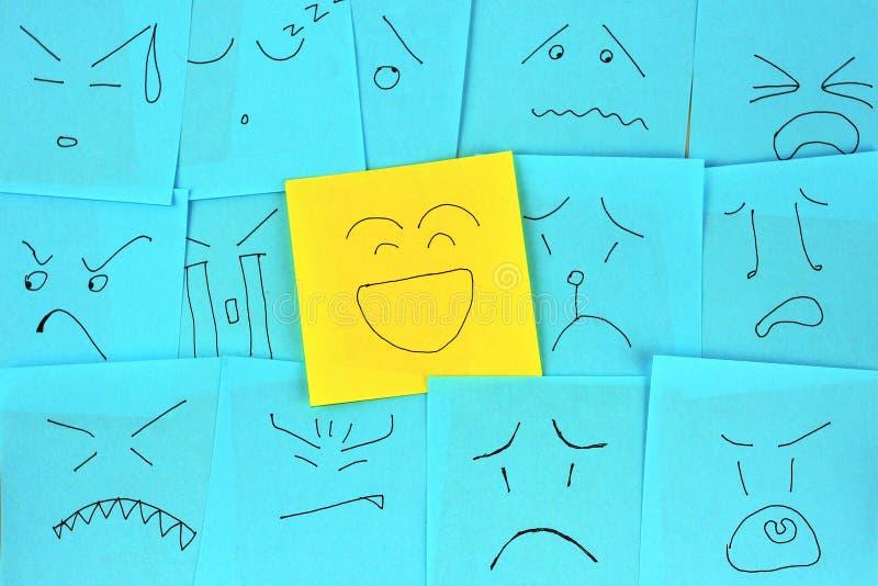 Documento di nota di emozione fotografie stock libere da diritti