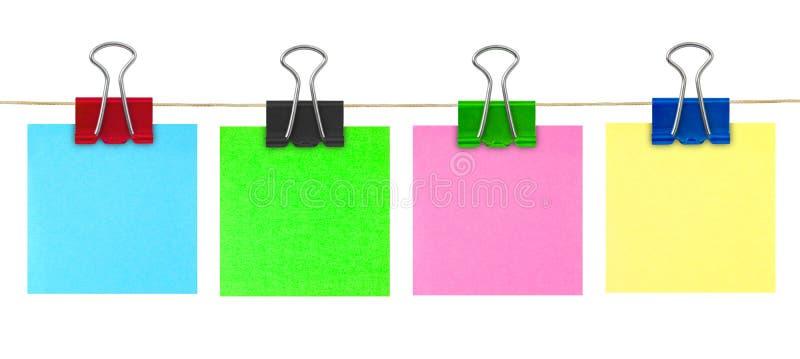 Documento di nota multicolore del post-it immagine stock libera da diritti