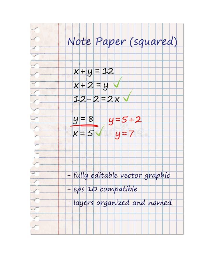 Documento di nota quadrato illustrazione di stock