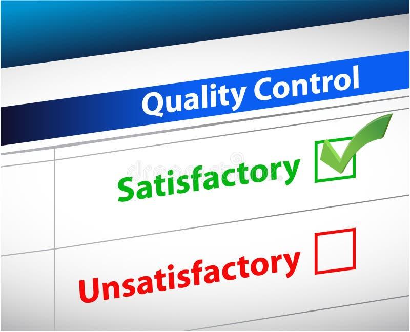 Documento do negócio dos resultados do controle da qualidade ilustração do vetor