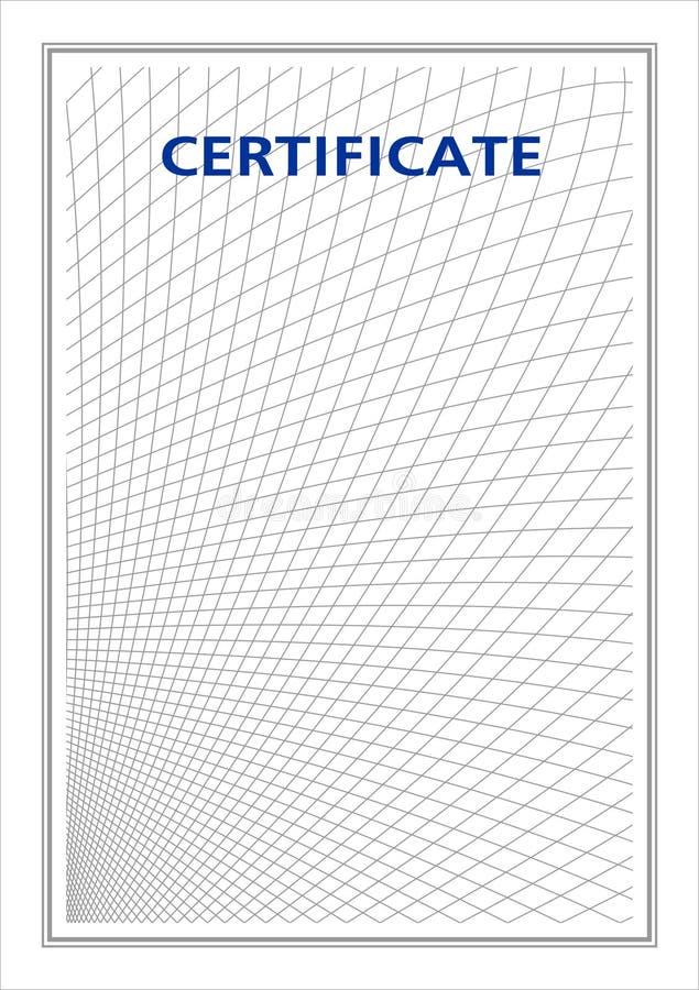 Documento en blanco para el certificado stock de ilustración