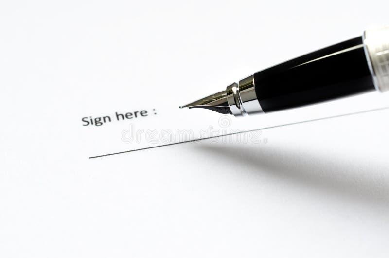 Documento giuridico pronto a firmare immagini stock