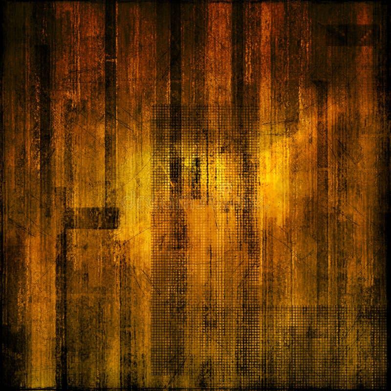 Documento grungy nero e giallo illustrazione di stock