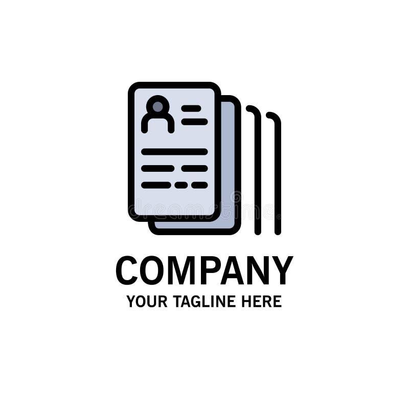 Documento, hallazgo, trabajo, negocio Logo Template de la búsqueda color plano stock de ilustración