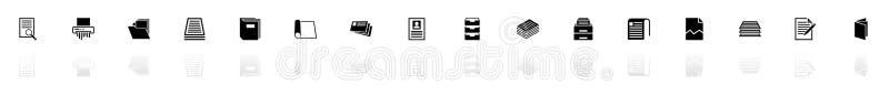 Documento - iconos planos del vector ilustración del vector