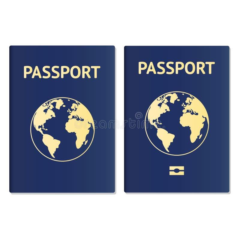 Documento identificaci?n del pasaporte Paso internacional para el viaje del turismo Identificaci?n del ciudadano del pasaporte de libre illustration