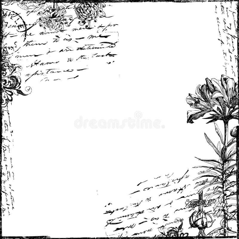 Documento introduttivo del Victorian del collage del testo dell'annata illustrazione vettoriale